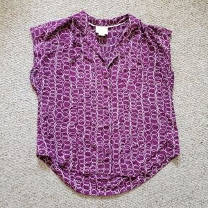 Anthropologie Maeve Purple Heart Blouse